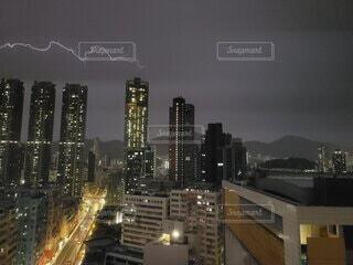 空,建物,夜,屋外,都市,タワー,都会,ダウンタウン