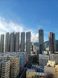 空,建物,屋外,雲,タワー,高層ビル