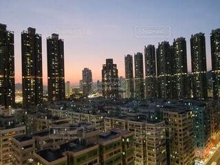 香港の夕焼けの写真・画像素材[4513415]