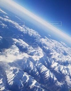 自然,空,雪,雲,青,山,壮大