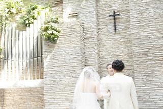 女性,男性,風景,花,結婚式,花嫁,人物,人,ウェディングドレス,立つ