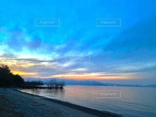 自然,風景,空,屋外,湖,雲,夕暮れ,水面,旅行