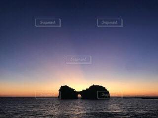 夕日に照らされの写真・画像素材[4664703]