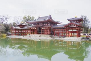 空,屋外,京都,湖,神社,水面,樹木,寺,建築,パゴダ