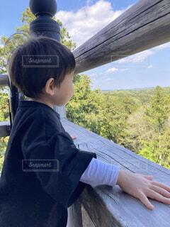 風景,空,屋外,樹木,人物,人,少年