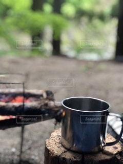 コーヒー,屋外,マグカップ,キャンプ,焚き火,ソロキャンプ