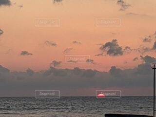 自然,風景,海,空,夕日,屋外,湖,ビーチ,雲,夕暮れ,船,水面,日の出,日本海