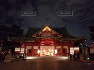 空,建物,夜,夜空,神社,ライトアップ,パワースポット,明るい,寺,建築