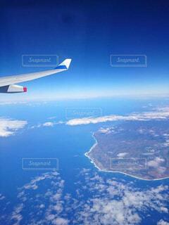 ハワイ上空飛行中の写真・画像素材[4486062]