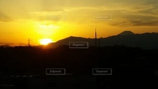 夕日の眺めの写真・画像素材[4492160]