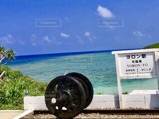 海,空,屋外,ビーチ,標識,タイヤ,ホイール