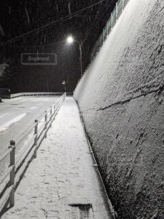 冬,雪,屋外,坂道,黒と白
