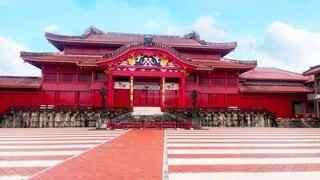 屋外,赤,沖縄,地面,寺,琉球,建築