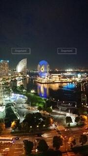 建物,夜,夜景,都会,高層ビル