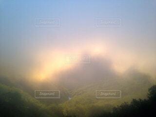 自然,風景,空,屋外,緑,雲,葉,霧,山,樹木