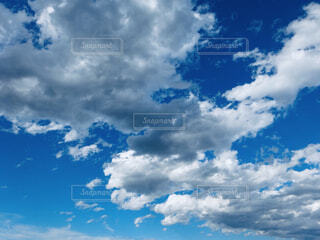 空,屋外,雲,青い空,くもり
