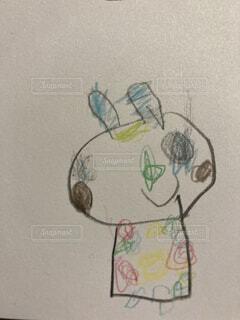 5歳児が描くおしゃれなうさぎの写真・画像素材[4480686]