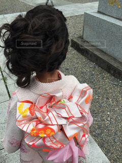 七五三、女の子の後ろ姿の写真・画像素材[4480697]
