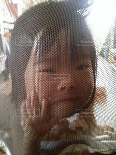 赤ちゃんゲートを突き破る勢いの2歳児の写真・画像素材[4480712]