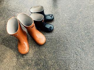 おそろいの長靴の写真・画像素材[4561132]