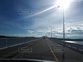 風景,空,橋,屋外,雲,道路,光,道