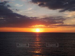 自然,海,空,夕日,屋外,太陽,ビーチ,雲,夕暮れ,水面,日没