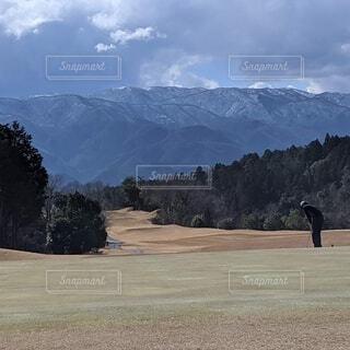 自然,空,屋外,山,樹木,ゴルフ,ゴルフ場