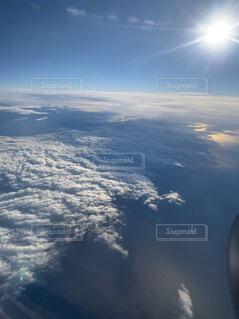 空,屋外,雲,飛行機,窓,飛ぶ,空中,航空機,フライト,空の旅