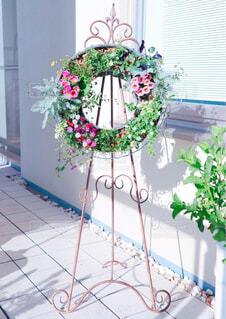 花,花瓶,窓,テラス,バラ,薔薇,植木鉢,リース,観葉植物,寄せ植え,花柄,草木