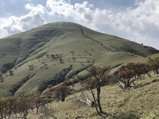 自然,空,夏,山,登山,一本道,稜線,登山道