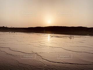 自然,空,屋外,湖,太陽,ビーチ,夕暮れ,水面
