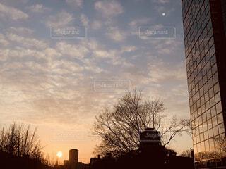 夕焼け,夕陽,夕焼け雲,今空,都会の夕焼け