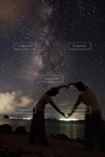 自然,海,空,夜景,沖縄,景色,星,人物,宮古島