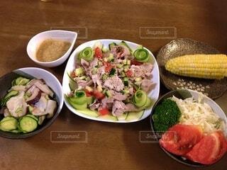 料理,夕飯,夏野菜,冷製