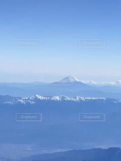 遠機内から富士山の写真・画像素材[4614131]
