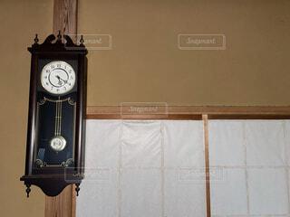 屋内,木,アンティーク,時計,家,大きい,和風,障子,田舎暮らし,古時計,動かない,壁時計,ばあちゃん家