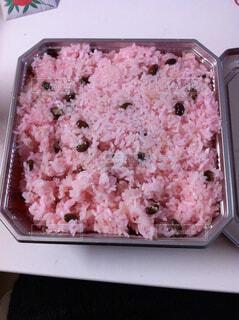 食べ物,屋内,お祝い,大量,赤飯,ボックス,赤紫色