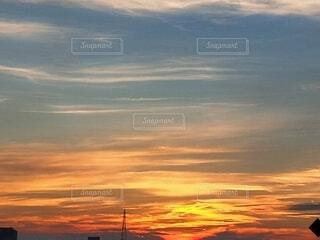 風景,空,屋外,太陽,雲,夕暮れ,日の出,設定