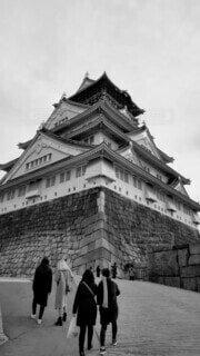 大阪城を歩く人の写真・画像素材[4563927]