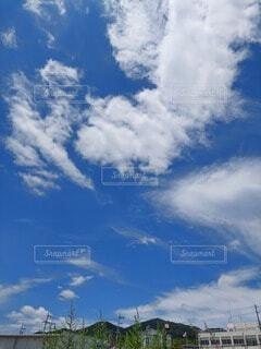 青空の雲の写真・画像素材[4578276]