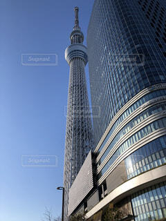 空,建物,屋外,タワー,高層ビル