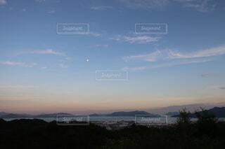 自然,空,屋外,湖,ビーチ,雲,夕暮れ,水面,山,月