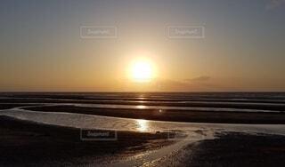 自然,風景,海,空,屋外,太陽,ビーチ,雲,砂浜,夕暮れ,水面,海岸