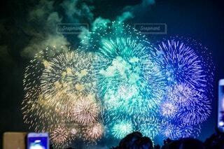 夜,花火,明るい,景観