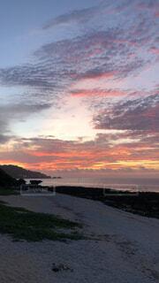 自然,風景,空,屋外,湖,太陽,ビーチ,雲,水面,沖縄,朝焼け,朝,日の出