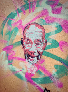アート,香港,街中,落書き,漫画,スケッチ,図面,人間の顔,子供の芸術
