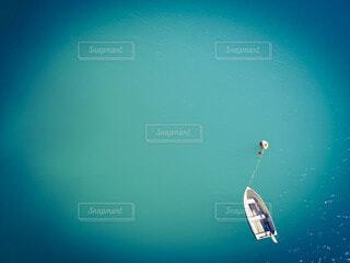 海,ボート,青,水,水面