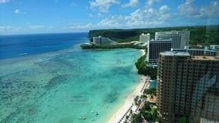 自然,風景,海,空,屋外,ビーチ,雲,砂浜,水面,グアム,タモンビーチ,スイミング プール