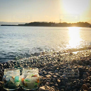 自然,風景,海,空,夕日,ビーチ,綺麗,波,サンセット,シーグラス