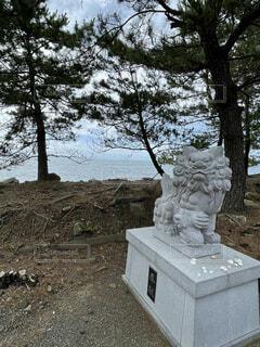 海辺の神社の写真・画像素材[4616905]